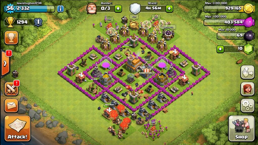 Clash of clans set up quotes